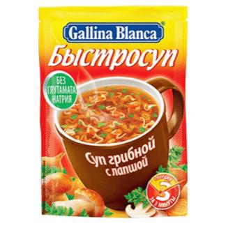 Быстрый суп Грибной с лапшой