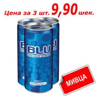"""Мивца! Энергетический напиток """"Блю"""" 0,25 л בלו"""