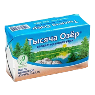 Масло тысяча озёр 200 гр. Финляндия חמאה סאוסנד לייק