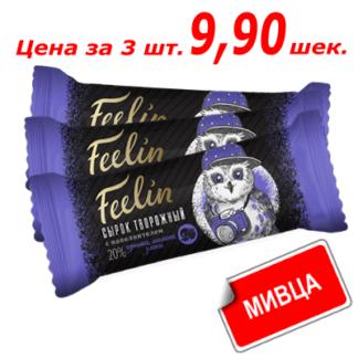 Сырок творожный Филин Малина с черникой в шоколаде 40 гр.