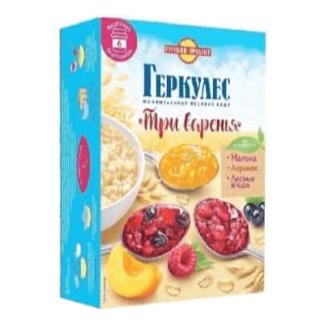 Геркулес Три варенья со вкусом малины абрикоса и лесных ягод 348 гр.