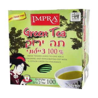 Чай Импра зелёный 100пак תה ירוק אימפרה