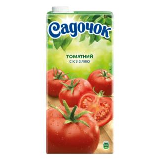 Сок Садочек Томатный 2 L. מיץ אגבניות