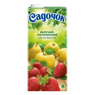 Сок Садочек Яблоко с Клубникой 2 L. מיץ תפוח תות