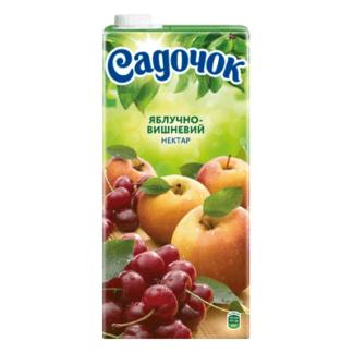 Сок Садочек Яблоко с Вишней 2 L. מיץ תפוח דובדוב