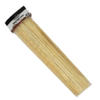 Деревянные шампуры толстые 50 шт. מקלות במבוק עבים