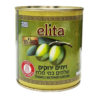 Маслины зелёные XL 820 гр. זיתים ירוקים