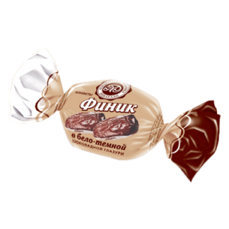 Финик в бело- тёмной шоколадной глазури תמר מצופה בשוקולד