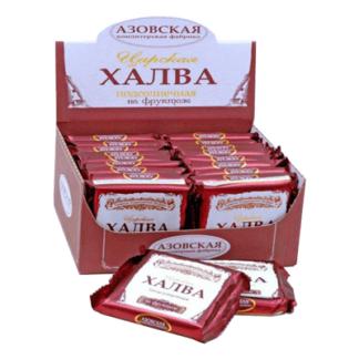 Халва Азовская подсолнечная на фруктозе 180 гр. חלווה עם פרוקטוזה