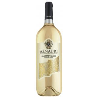 Вино AZNAURI Алазанская Долина белое полусладкое 0.75 L. יין לבן חצי מתוק