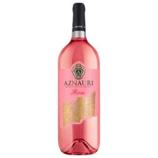 Вино AZNAURI Розе 0.75 L. полусладкое יין אזנאורי רוזה חצי מתוק
