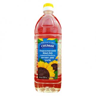 Масло подсолнечное рафинированное Чумак 850 мл. שמן חמניות מזוכך