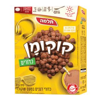 Шоколадные хлопья 375 гр. דגני בוקר קוקומן
