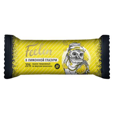 Сырок творожный Филин Ванильный в лимонной глазури 40 гр.