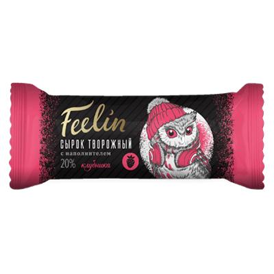 Сырок творожный Филин Клубника в шоколаде 40 гр.
