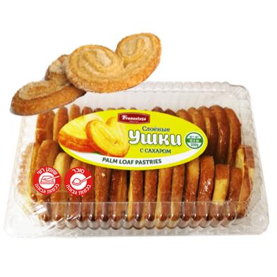 Печенье Ушки слоеные 350 гр. עוגיות אוזניים