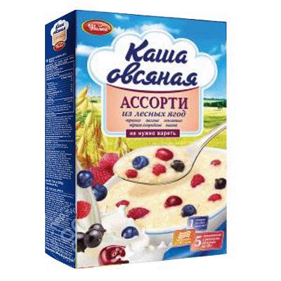 Овсяная каша Ассорти лесные ягоды