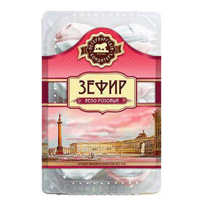 Зефир бело-розовый Петербургский кондитеръ