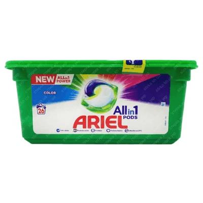 Стиральные капсулы Ариэль 3 в 1 26 шт. קפסולות לכביסה אריאל