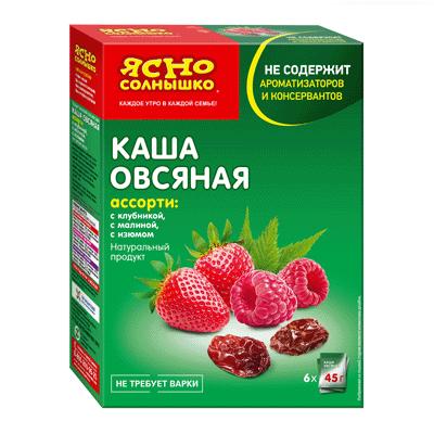 Заполнитель Каша овсяная Ассорти 1 Ясно Солнышко 6×45гр