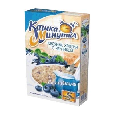 Кашка Минутка овсяная с черникой 5 пакетов שבולת שועל אוכמניות שחורות