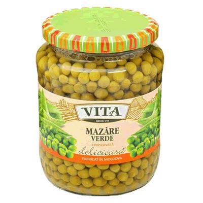 Горошек зеленый консервированный Vita 510 гр.