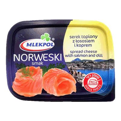 Сыр плавленый с лососем и укропом 150 гр. גבינה עם סלומון ושמיר