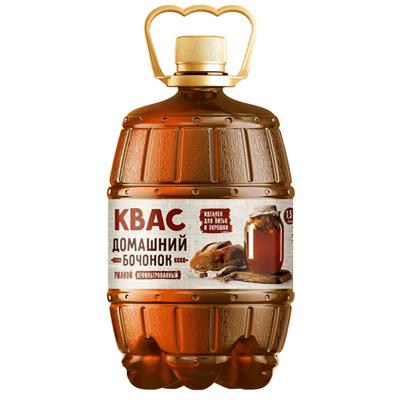 Квас Домашний для окрошки ржаной нефильтрованный 1.5 л. קוואס