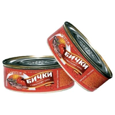 Бычки обжаренные в томатном соусе 240 гр. שימורי דגים