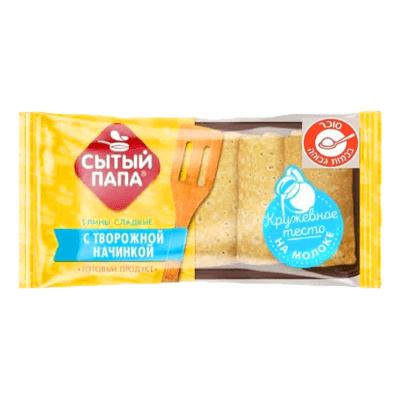 Блинчики с творогом Сытый папа 350 гр. בלינצס קפואים במילוי גבינה