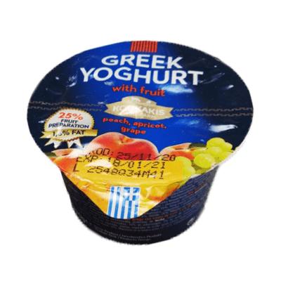 Йогурт греческий персик, абрикос, виноград יוגורט יווני אפרסק, משמש,ענבים